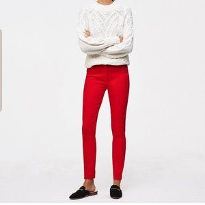 LOFT Red Julie Skinny Pants